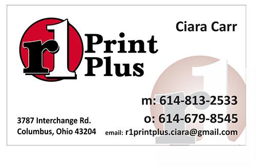 R1 Business cards Ciara Carr